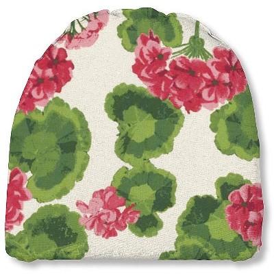 "Plow & Hearth - Polyester Classic Outdoor Chair Cushion, 18.5"" x 18"" x 3"", Geranium"