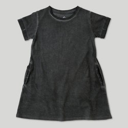 d94b3fa9165 Toddler Girls  Afton Street Short Sleeve Washed Dress - Charcoal - 12 Months