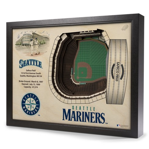 MLB Seattle Mariners 25 Layer Stadiumviews 3D Wall Art - image 1 of 4