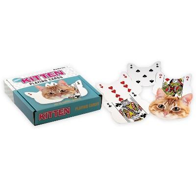 Gamago Kitten-Shaped Playing Cards | 52 Card Deck + 2 Jokers