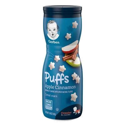 Gerber Puffs, Apple Cinnamon - 1.48oz