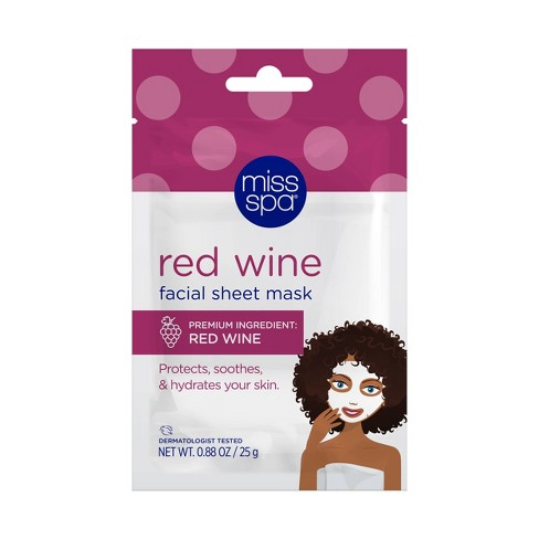 Miss Spa Red Wine Face Mask - 0.88oz - image 1 of 4