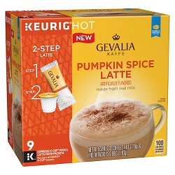 Gevalia Pumpkin Spice Latte Medium Roast - Keurig K-Cup Pods - 6ct