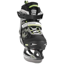 Bladerunner Micro Ice Junior Boys Youth Adjustable Skates, Small, Black/Green