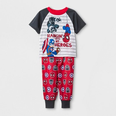 Toddler Boys' Marvel 2pc Pajama Set - Navy 3T