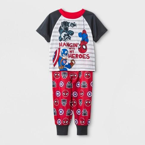 d0ba390ca Baby Boys  Marvel 2pc Pajama Set - Navy   Target