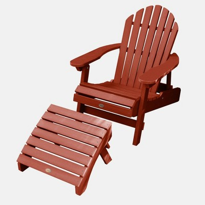 Hamilton Folding & Reclining Adirondack Chair with Folding Adirondack Ottoman - Highwood