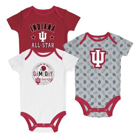 Indiana Hoosiers Baby Boys' Short Sleeve 3pk Bodysuit - image 1 of 1