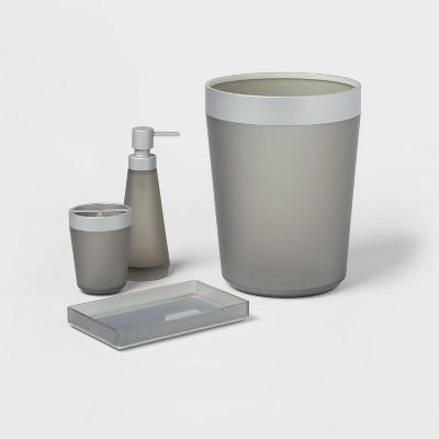 4pc Bath Coordinate Set Gray - Room Essentials™