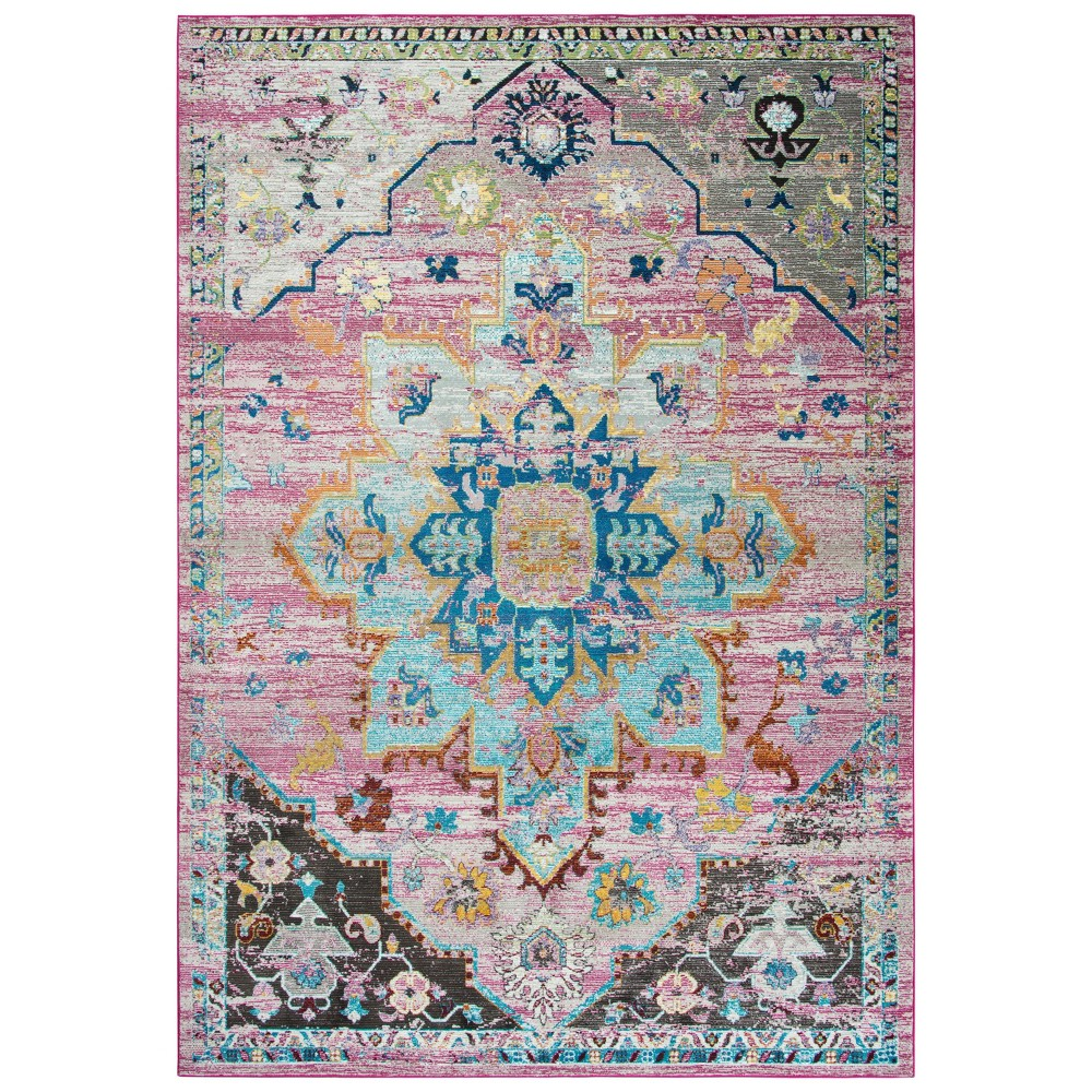 Image of 5'X7' Princeton Medallion Rug Pink - Rizzy Home