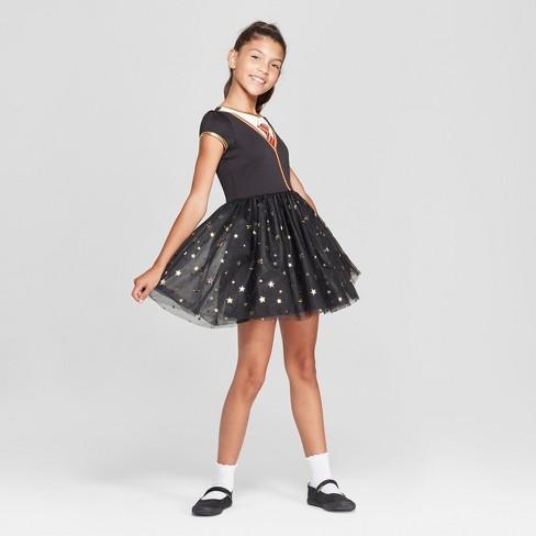 93a4c9a1e7b Girls  Harry Potter Short Sleeve Cosplay Dress - Black S   Target