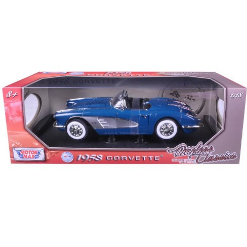 1958 Chevrolet Corvette Turquoise Timeless Classics 1/18 Diecast Model Car by Motormax - image 1 of 1