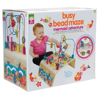 ALEX Toys ALEX Jr. Busy Bead Maze Mermaid Wooden Activity Center