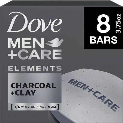 Dove Men Care Elements Charcoal Clay Body Face Bar Soap 3 75oz 8ct Target