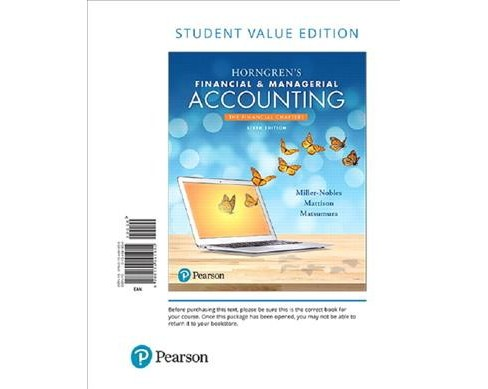 Horngren's Financial & Managerial Accounting, the Financial Chapters (Paperback) (Tracie Miller-Nobles & - image 1 of 1