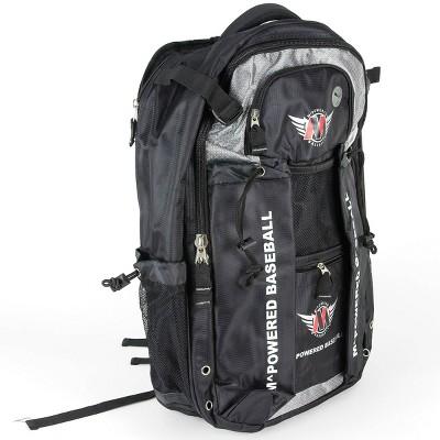 Mpowered Baseball Ergonomically Designed Custom Bat 28'' Backpack - Black
