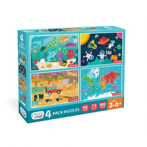 Chuckle & Roar 4pk Jigsaw Puzzles 268pc - image 1 of 4