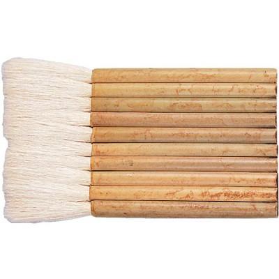 Yasutomo Sheep Hair Short Bamboo Handle Hake Brush, 3-1/4 in