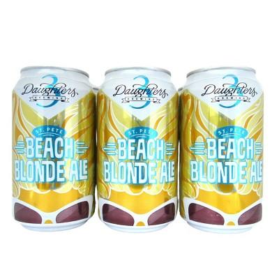 3 Daughters St. Pete Beach Blonde Ale Beer - 6pk /12oz Cans