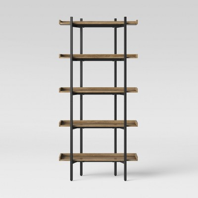 68  Taft 5 Shelf Bookcase Rustic/Black - Threshold™