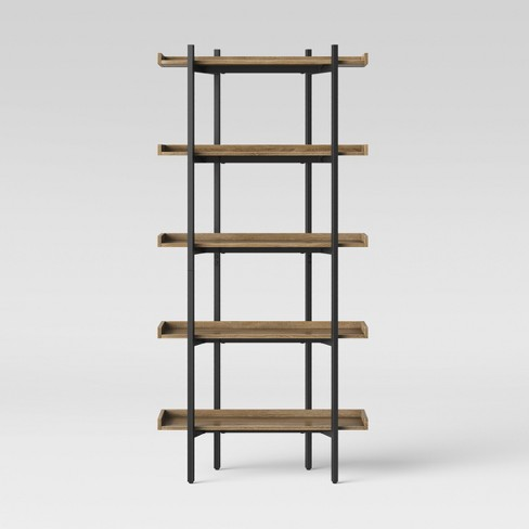"68"" Taft 5 Shelf Bookcase Rustic/Black - Threshold™ - image 1 of 4"