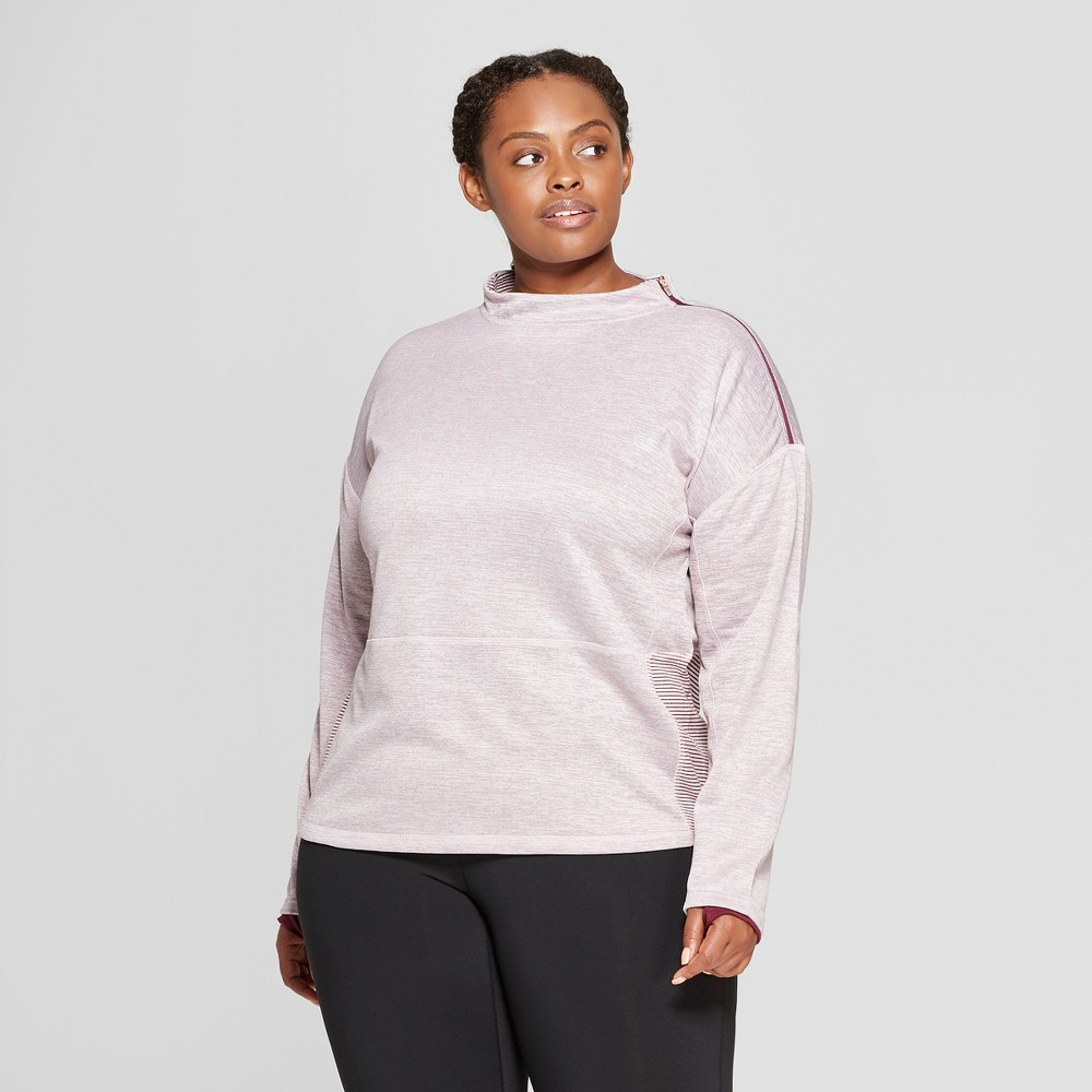Women's Plus Size Tech Fleece Pullover - C9 Champion Burgundy Heather 3X