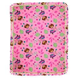 Dora Fall Fun Micro Fleece Throw Kit