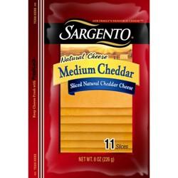 Sargento Sliced Natural Medium Cheddar Cheese - 8oz