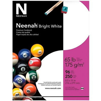 Neenah Bright White Cardstock, 8-1/2 x 11 Inches, 65 lb, pk of 250