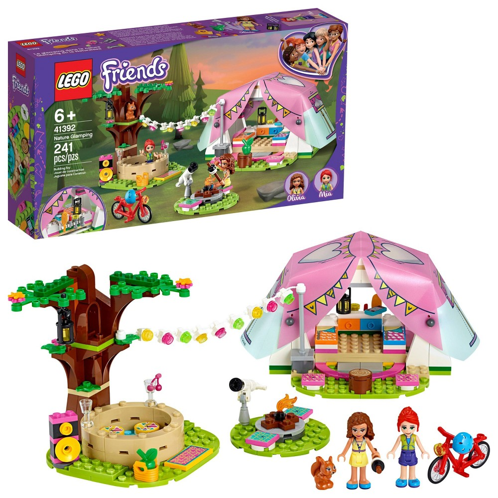 Lego Friends Nature Glamping Building Kit Includes Lego Friends Mia A Mini Doll Tent And A Toy Bicycle 41392
