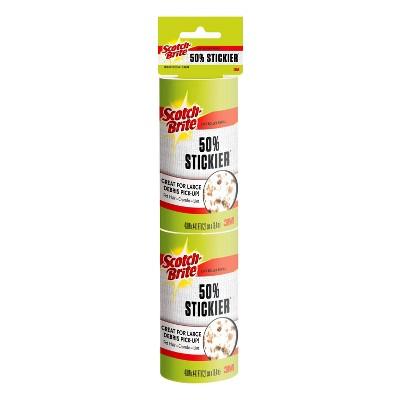 """Scotch-Brite Jumbo 4.8"""" Sheet Lint Roller Refills 50% Stickier - 2pk/160 Sheets"""
