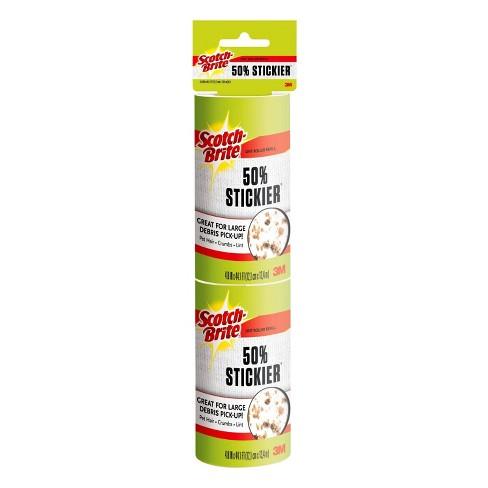 """Scotch-Brite Jumbo 4.8"""" Sheet Lint Roller Refills 50% Stickier - 2pk/160 Sheets - image 1 of 1"""