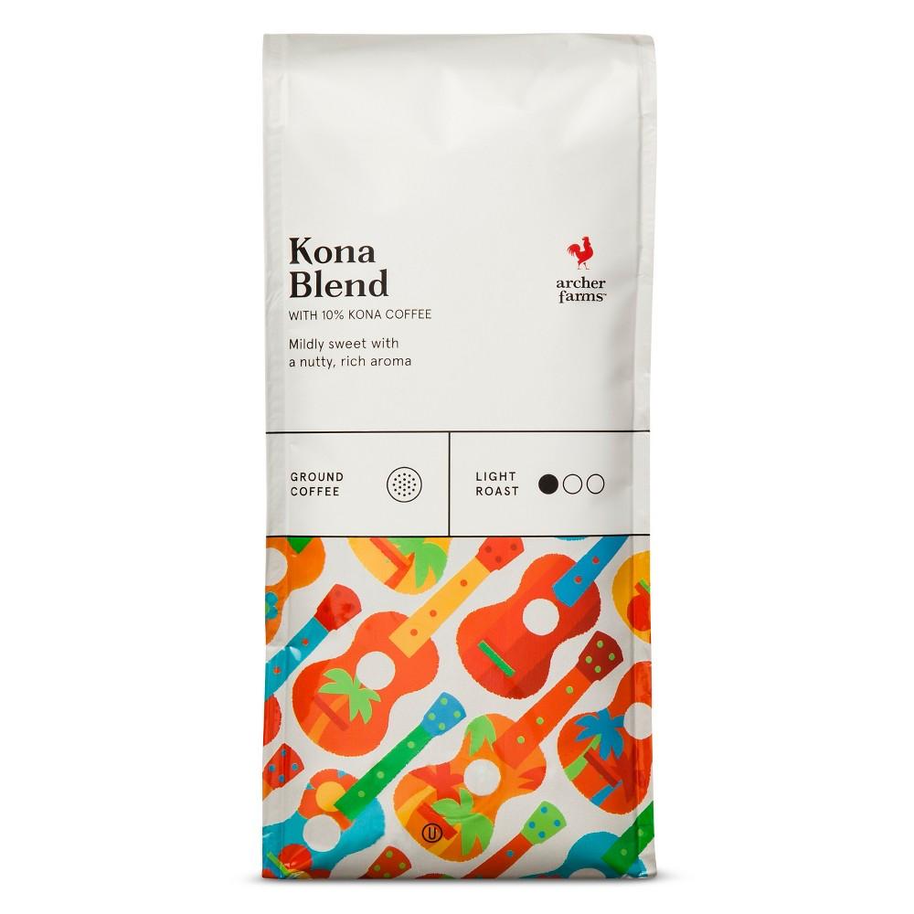 Kona Blend Light Roast Ground Coffee - 12oz - Archer Farms
