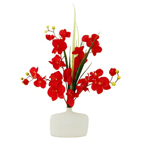 "Artificial Orchid Arrangement Red 24"" - LCG Florals - image 1 of 1"