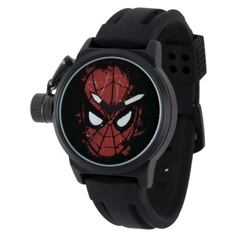 Men's Marvel Spider-Man Crown Protector Watch - Black - image 1 of 2