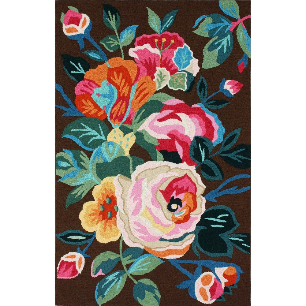 nuLOOM Hand Tufted Aline Floral Area Rug - Brown (5'X8'), Multicolored