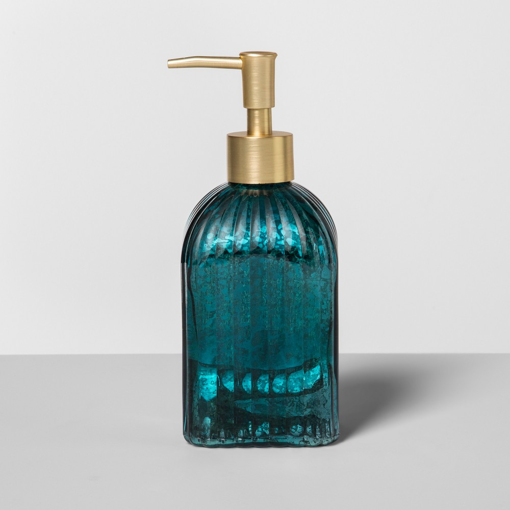 Glass Soap/Lotion Dispenser Teal Blue - Opalhouse