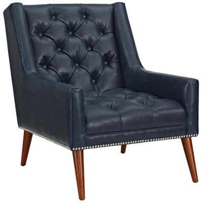Merveilleux Peruse Faux Leather Armchair   Modway