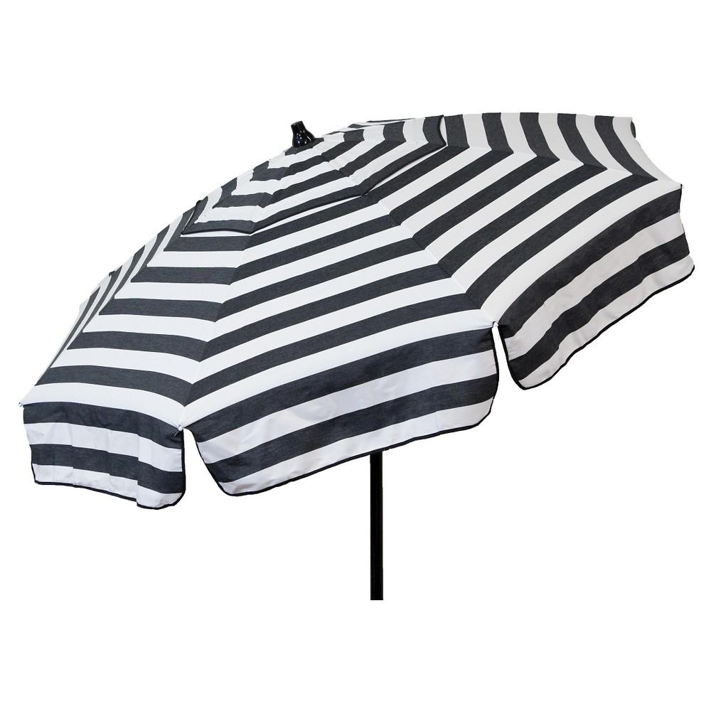 Image of 6' Italian Aluminum Collar Tilt Patio Umbrella - Parasol, Black White