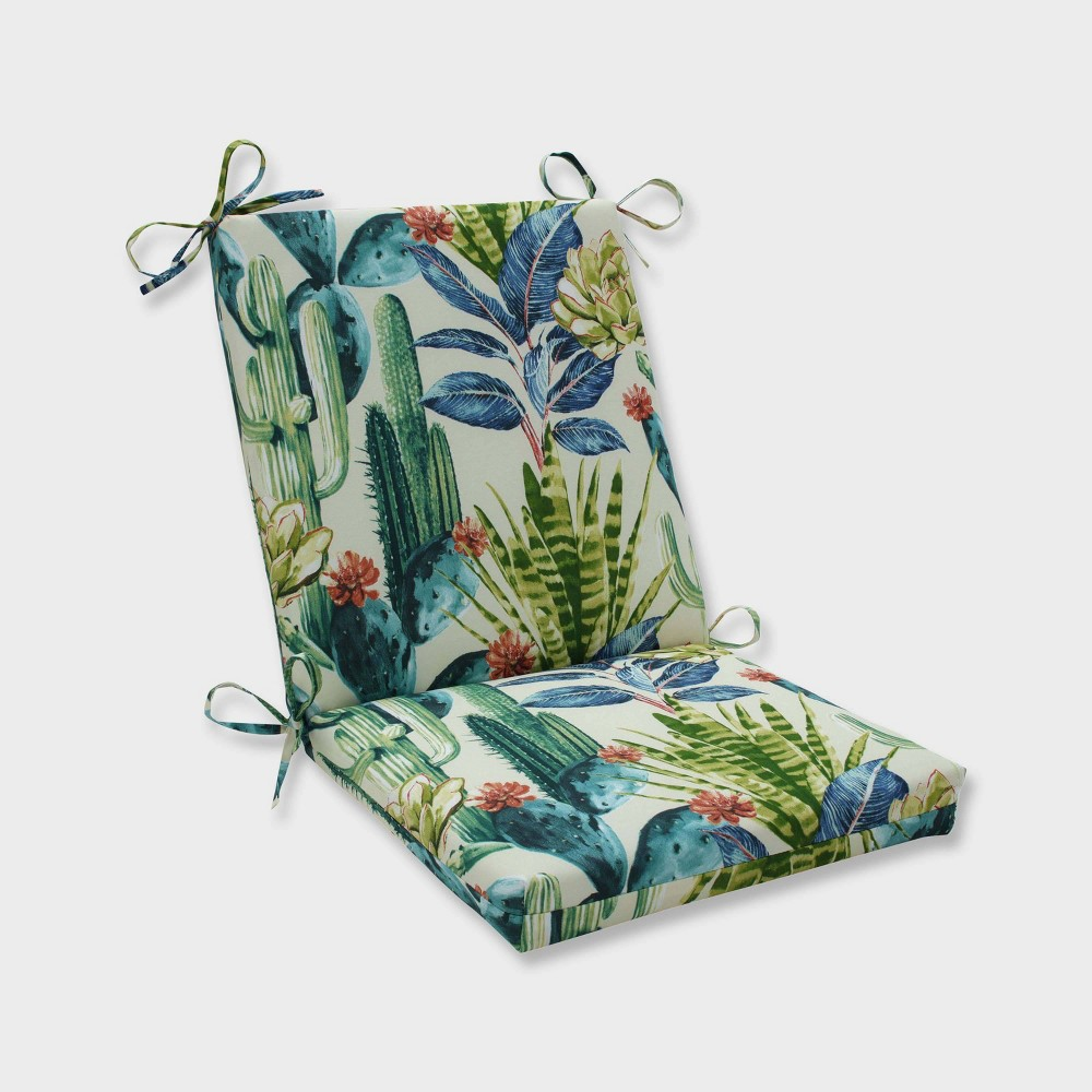 Hatteras Garden Squared Corners Outdoor Chair Cushion Black - Pillow Perfect