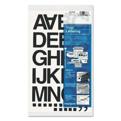 "Chartpak Press-On Vinyl Letters & Numbers Self Adhesive Black 1 1/2""h 37/Pack 01040"