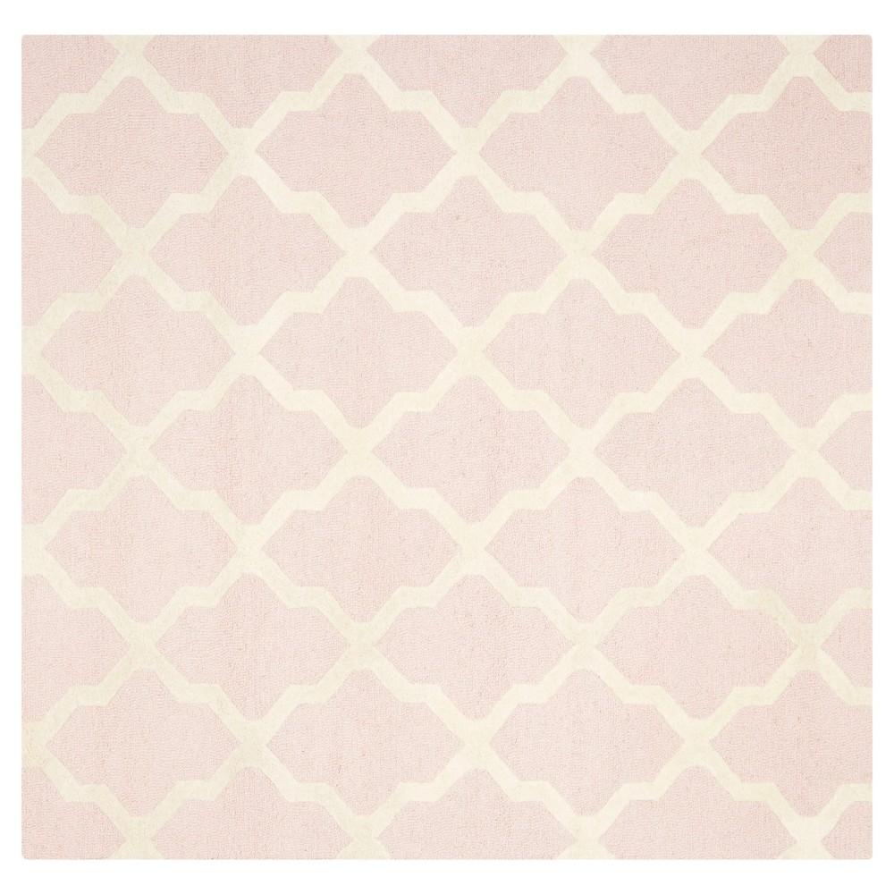 Maison Textured Rug - Light Pink / Ivory (6'X6') - Safavieh, Light Pink/Ivory