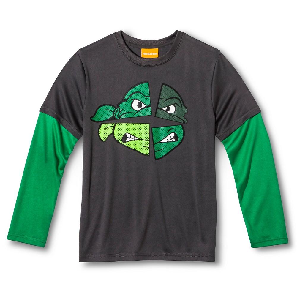 Boys' Teenage Mutant Ninja Turtles Active Top - Black S