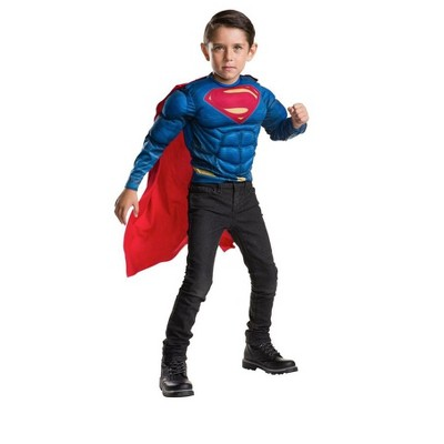 Imagine Deluxe Muscle Chest Child Superman Shirt and Cape Costume Set