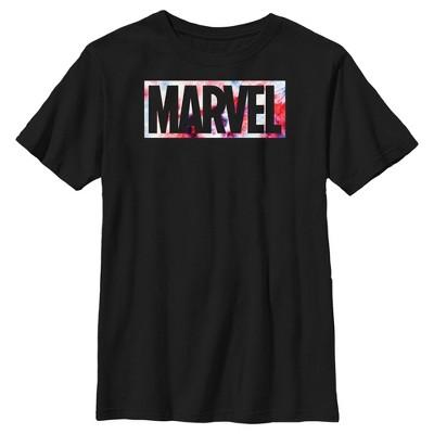 Boy's Marvel Classic Patriotic Tie-Dye Logo T-Shirt