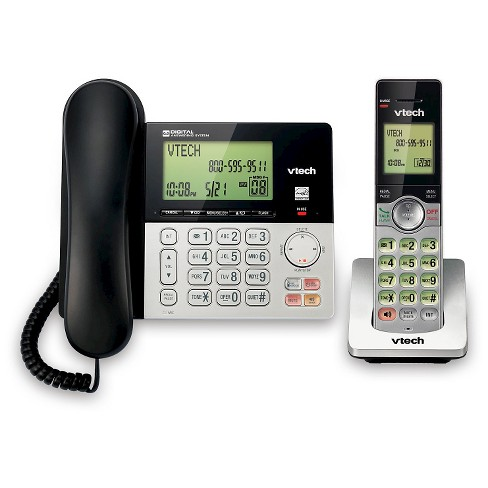 Cordless Home Phone Vtech Dect 6.0 Telephone w//o Answering Machine 1 Set System