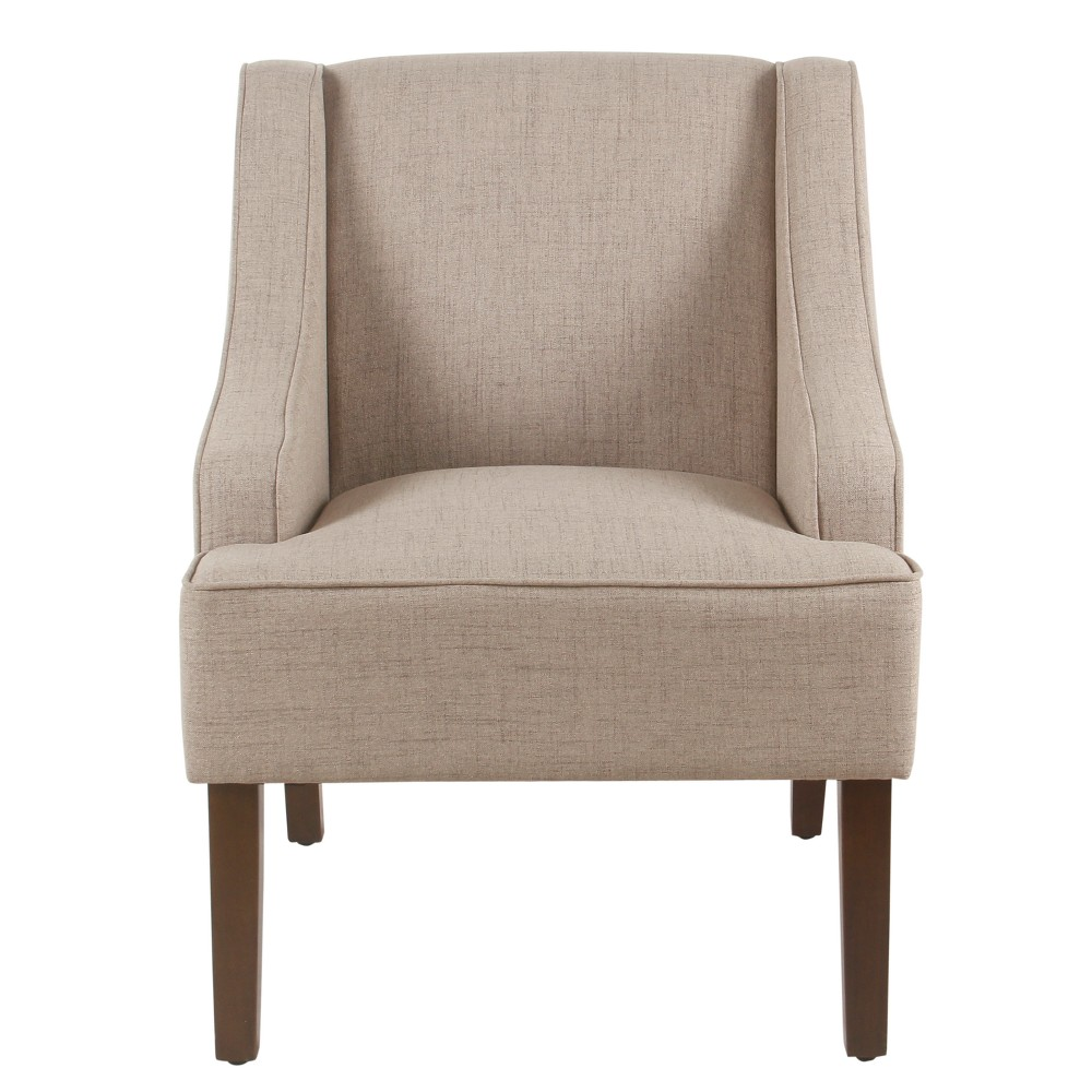 Classic Swoop Arm Accent Chair Tan - Homepop was $229.99 now $172.49 (25.0% off)