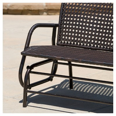 Maui Swinging Wicker Patio Bench   Brown   Christopher Knight Home : Target