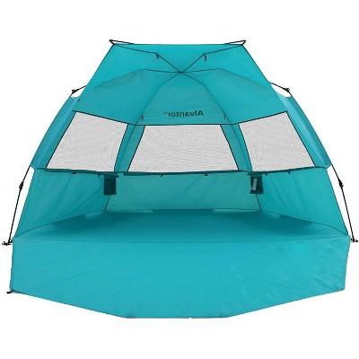 Outdoor Automatic Pop-Up Sun Shelter - Teal - Alvantor