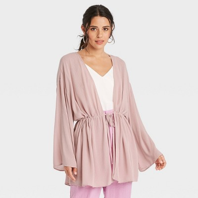 Women's Solid Duster - A New Day™ Pink
